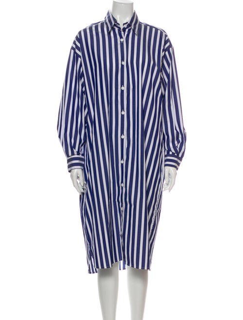 Jesse Kamm Striped Midi Length Dress w/ Tags Blue