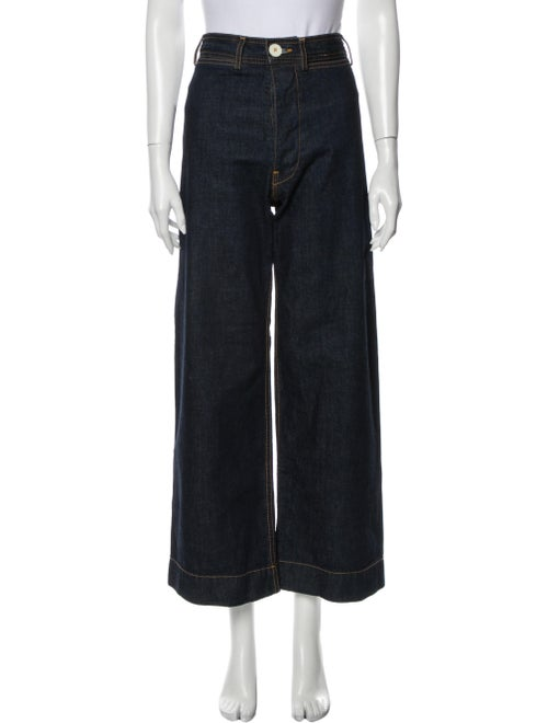 Jesse Kamm High-Rise Wide Leg Jeans Blue