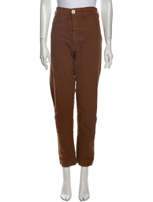 Jesse Kamm Straight Leg Pants Brown
