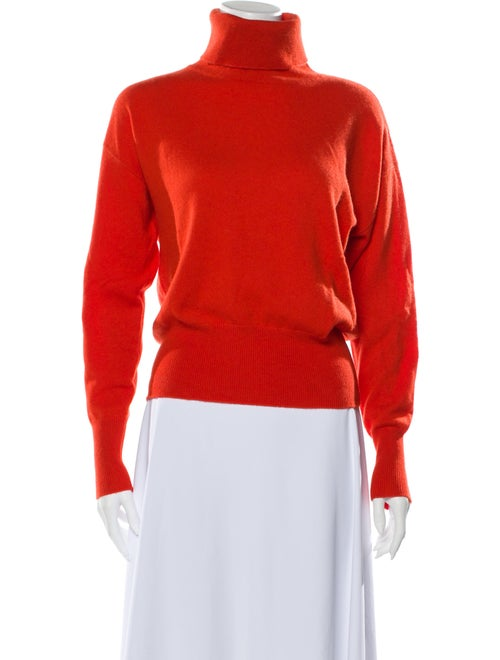 Demylee Cashmere Turtleneck Sweater w/ Tags Orange