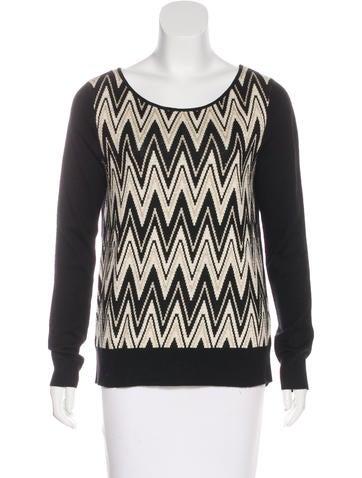 Ella Moss Chevron Print Knit Sweater None