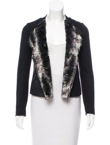 Ella Moss Faux Fur-Lined Open Front Jacket w/ Tags None