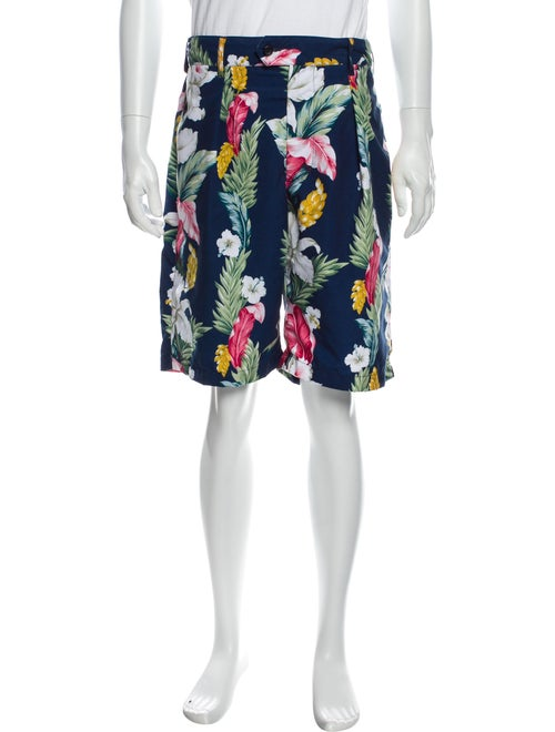 Engineered Garments Floral Print Flat Front Shorts