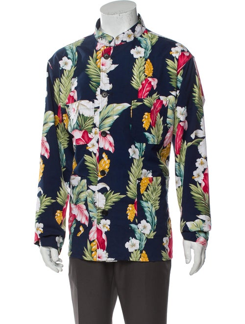Engineered Garments Floral Print Long Sleeve Shirt