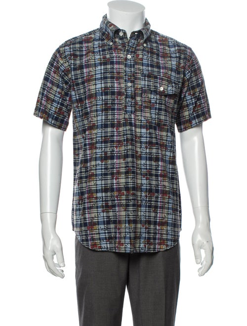 Engineered Garments Plaid Print Short Sleeve Shirt