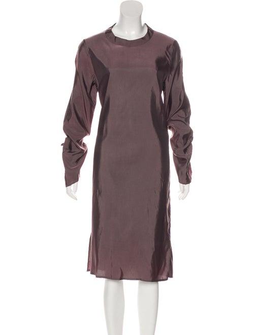 Eckhaus Latta Crew Neck Knee-Length Dress Purple