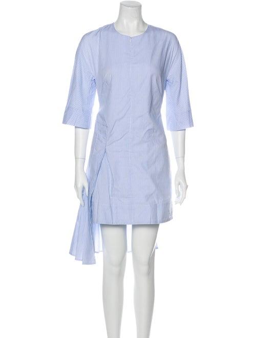Eckhaus Latta Striped Knee-Length Dress Blue