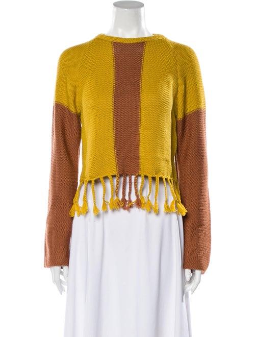 Eckhaus Latta Wool Colorblock Pattern Sweater w/ T