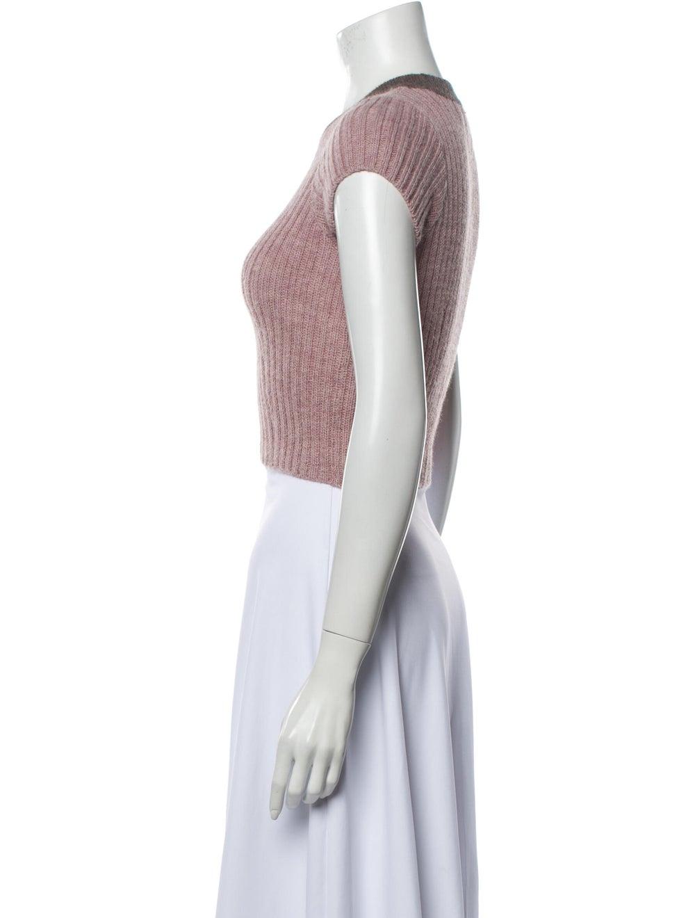Eckhaus Latta Alpaca Crew Neck Sweater Pink - image 2