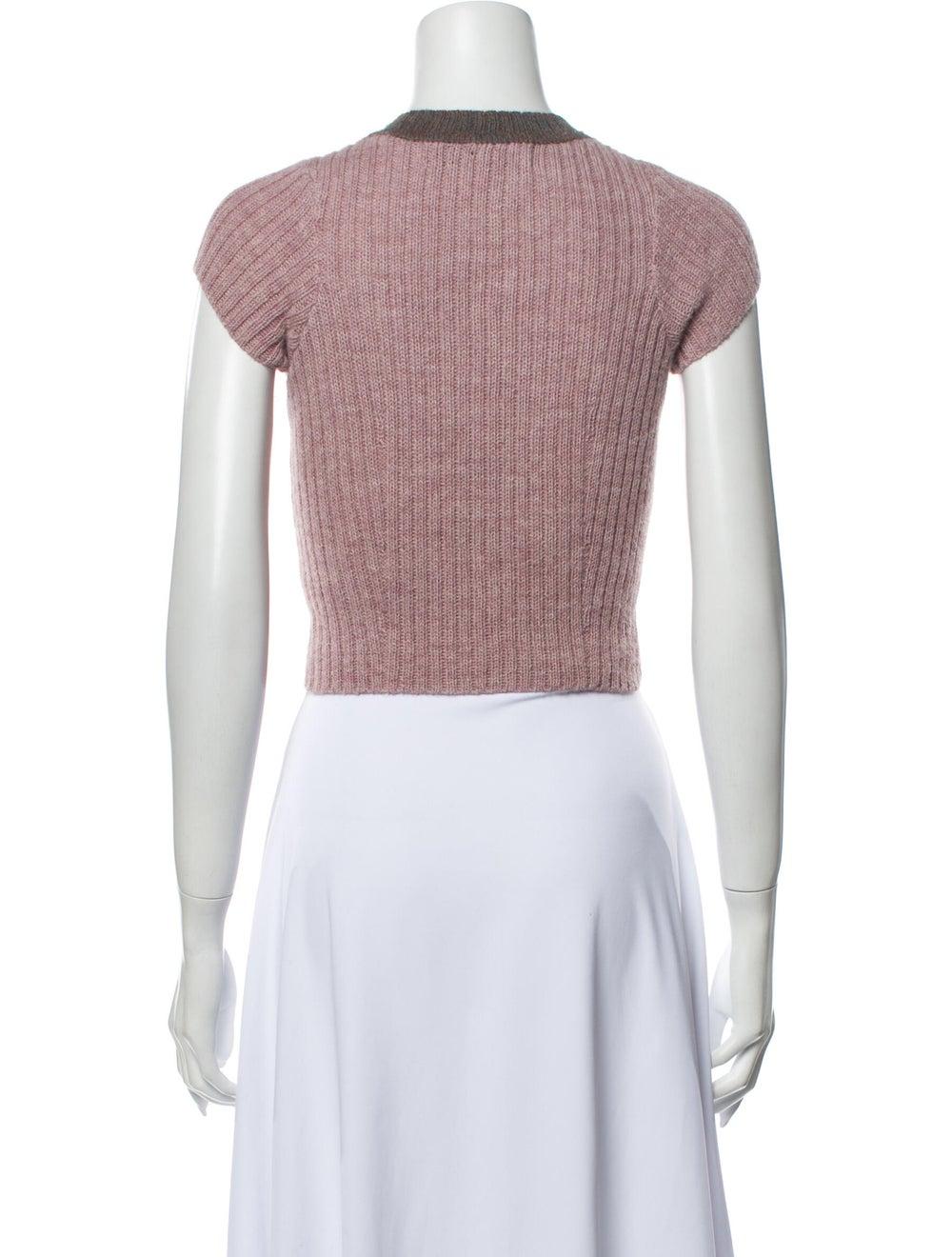 Eckhaus Latta Alpaca Crew Neck Sweater Pink - image 3