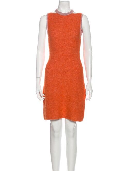 Eckhaus Latta Alpaca Mini Dress w/ Tags Orange