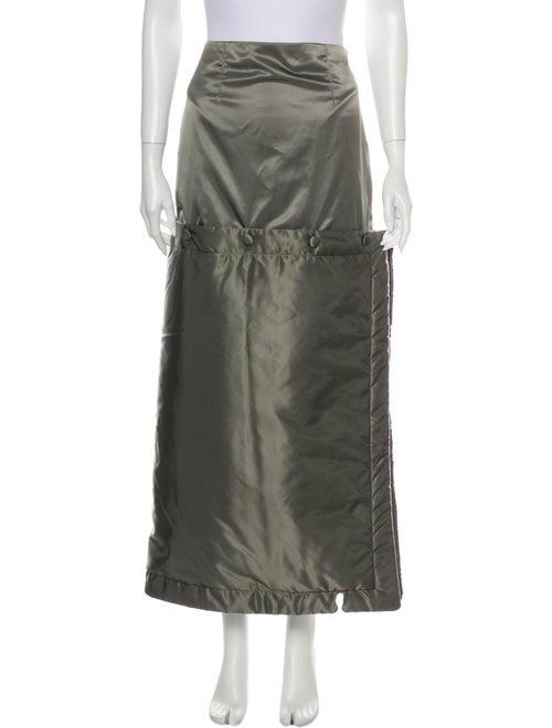 Eckhaus Latta Midi Length Skirt w/ Tags Green