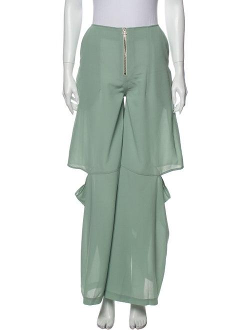 Eckhaus Latta Linen Wide Leg Pants w/ Tags Green