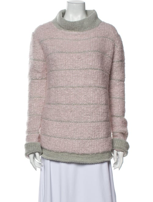 Eckhaus Latta Striped Turtleneck Sweater Pink