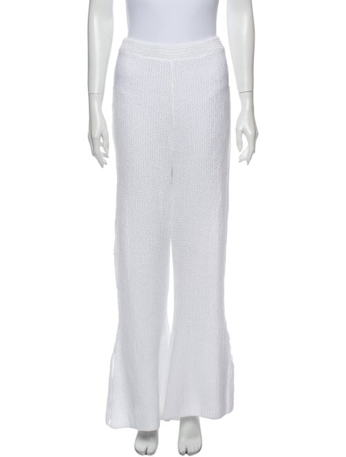 Eckhaus Latta Scallop Pant Wide Leg Pants White