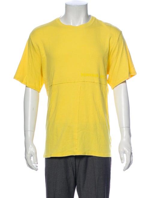 Eckhaus Latta Crew Neck Short Sleeve T-Shirt Yello