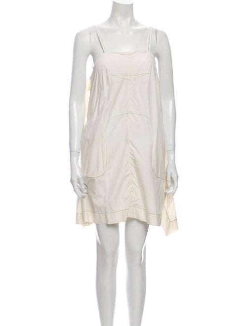 Eckhaus Latta Silk Mini Dress White