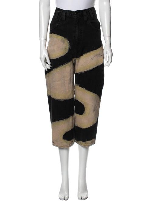 Eckhaus Latta High-Rise Straight Leg Jeans Black