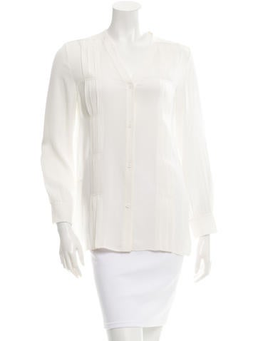 Edun Silk Pleated Top w/ Tags None