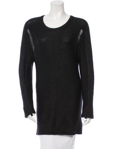 Edun Distressed Rib Knit Sweater None