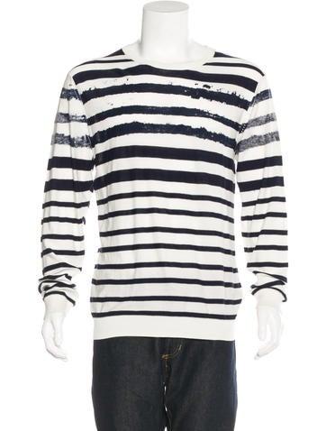 Edun Striped Crew Neck Sweater w/ Tags None