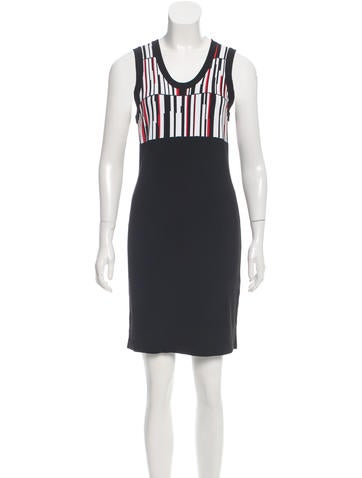 Edun Sleeveless Abstract Print Dress None