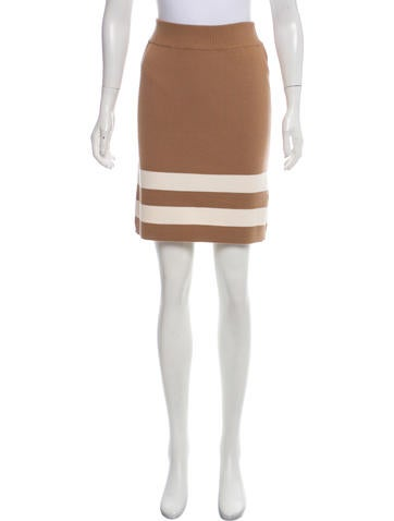 Edun Striped Wool Skirt None