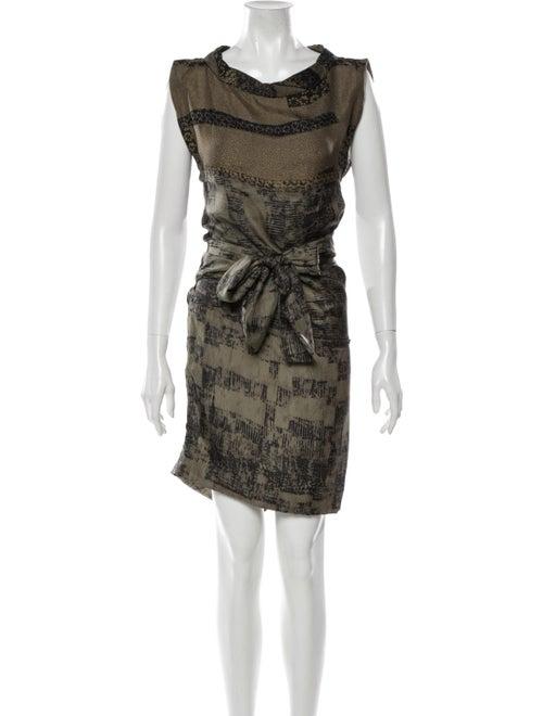 Edun Silk Mini Dress Green