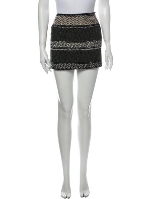Edun Printed Mini Skirt Black