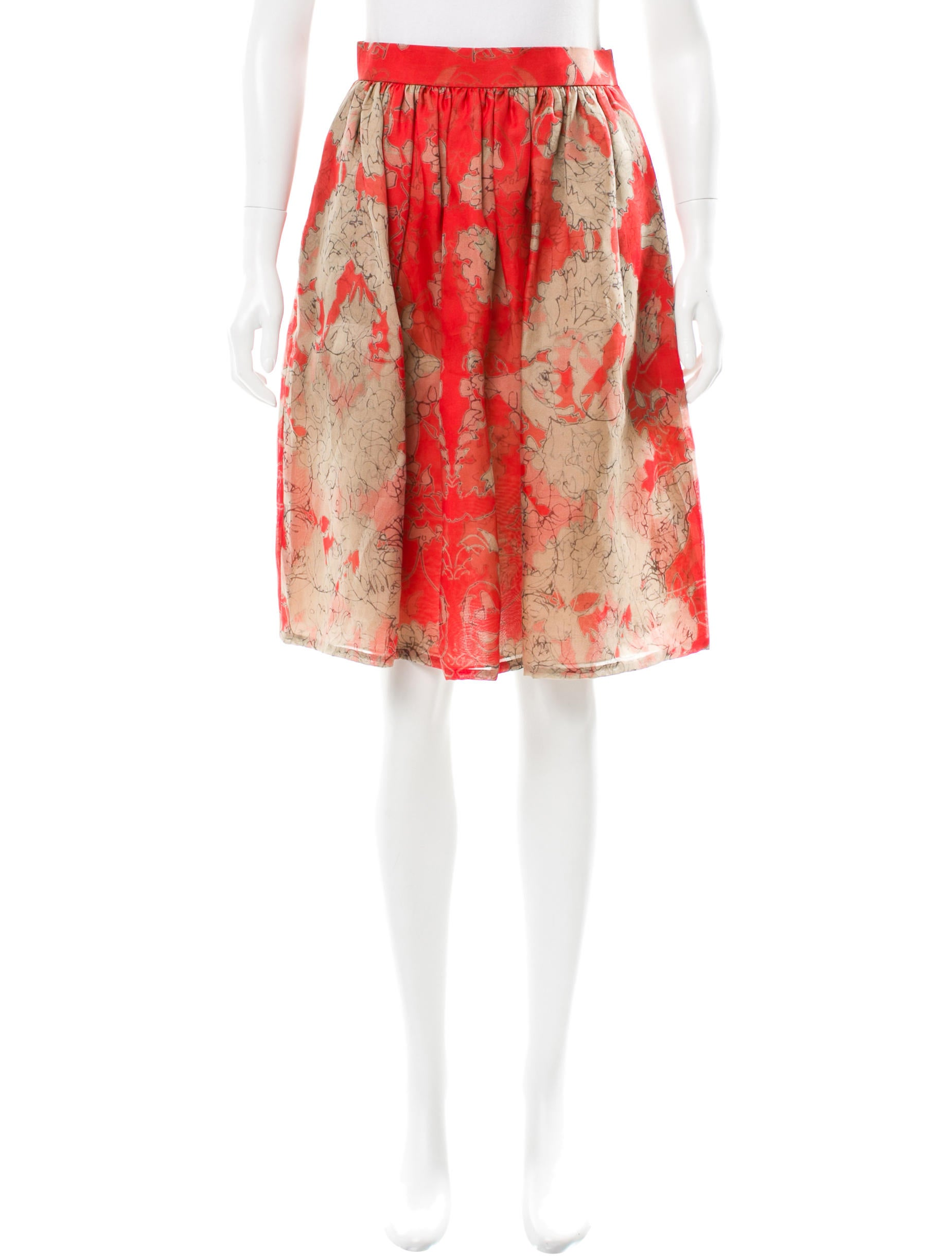wes gordon silk a line skirt clothing weg20323 the