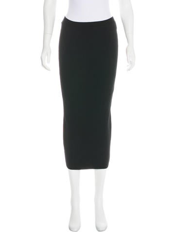 Wes Gordon Knit Midi Skirt None
