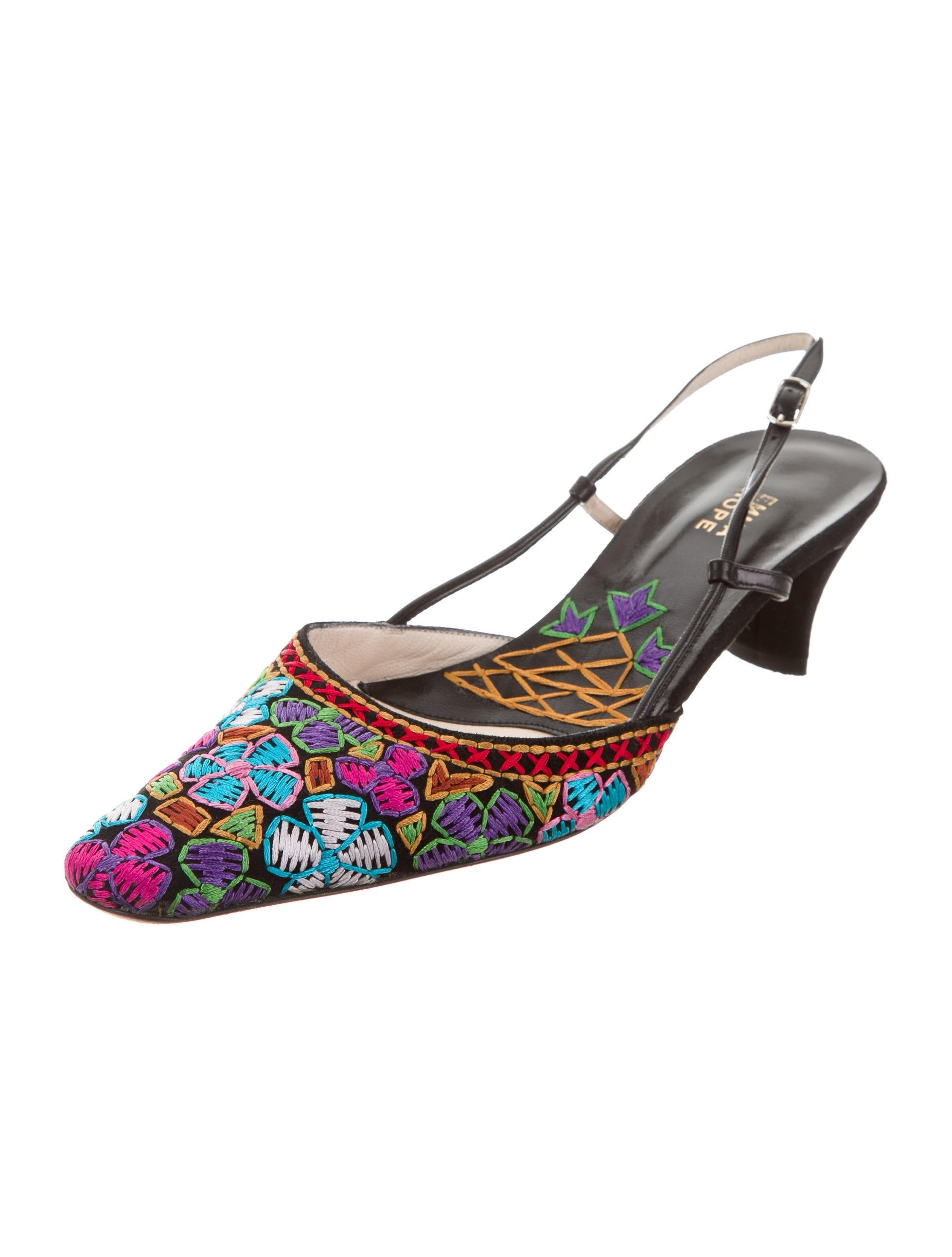 Emma Hope Embroidered Slingback Pumps brand new unisex cheap price qhVeYzf
