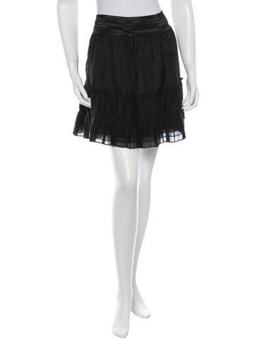 Elizabeth and James Silk Pleated Mini Skirt