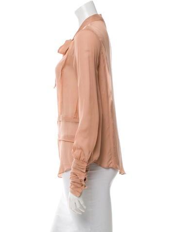 Silk Button-Up Blouse
