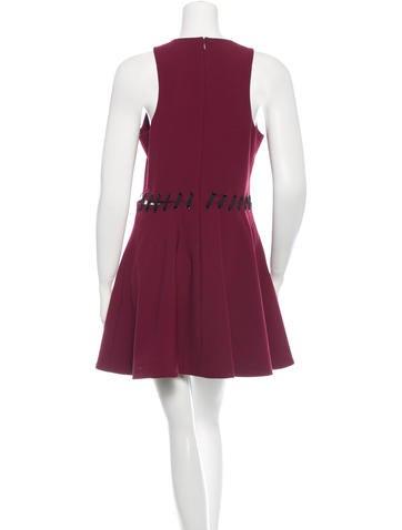 Mini Whip-Stitched A-Line Dress