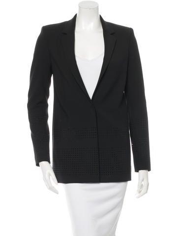 Elizabeth and James Perforated Blazer Jacket None