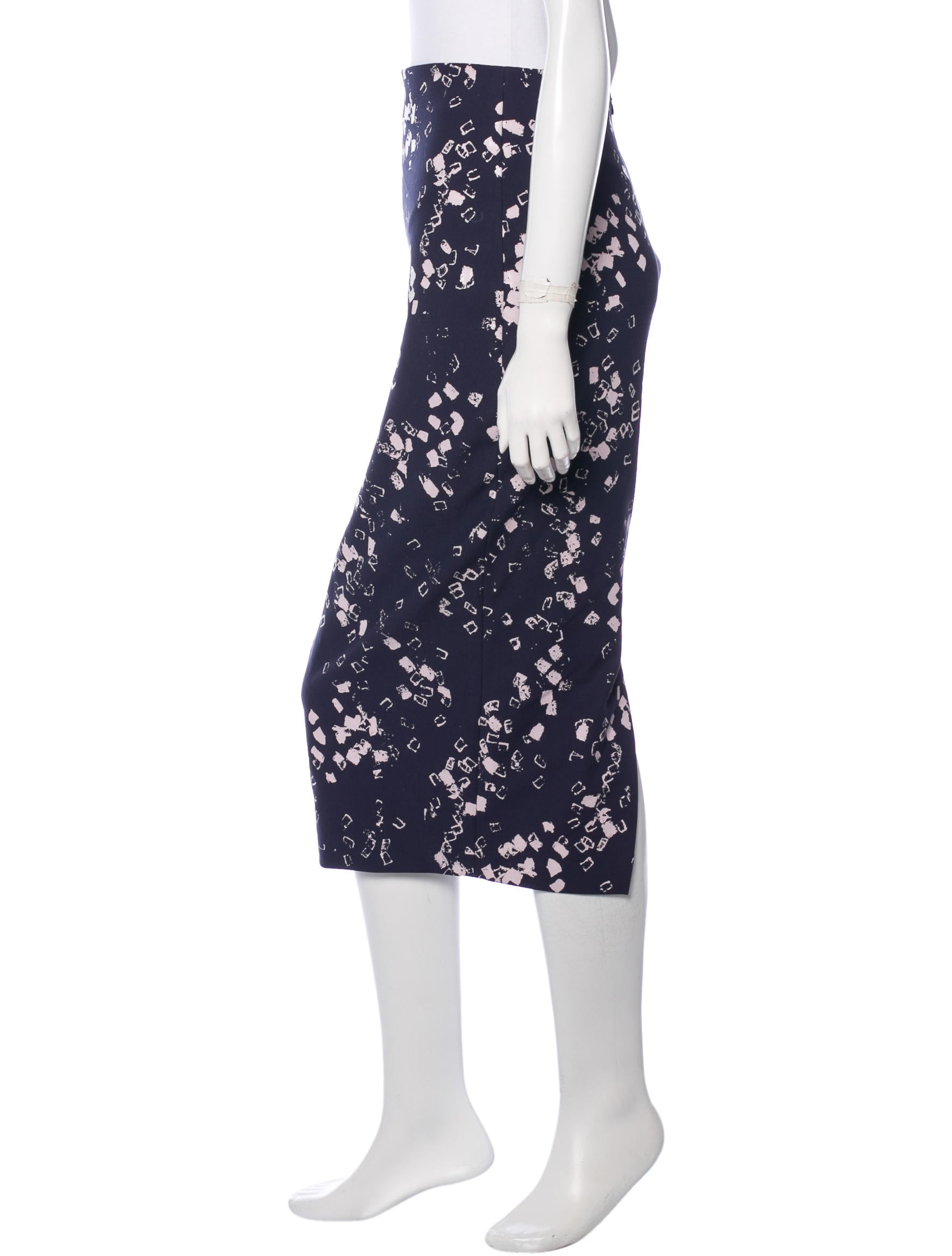 elizabeth and abstract print pencil skirt clothing