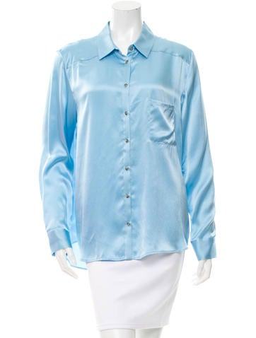 Elizabeth and James Silk Long Sleeve Top w/ Tags None