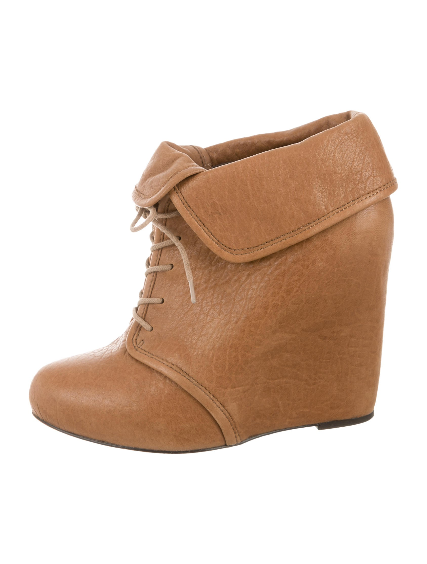 elizabeth and lace up wedge boots shoes wei34021