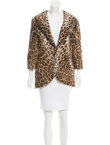 Elizabeth and James Faux Fur Leopard Print Jacket w/ Tags