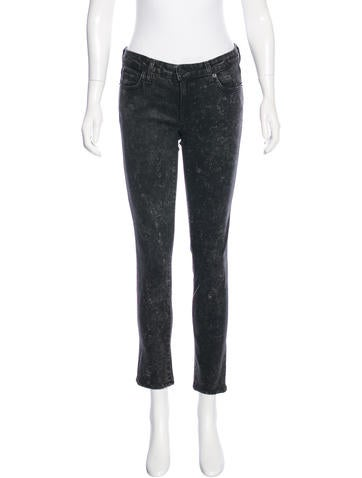 Elizabeth and James Low-Rise Coated Jeans