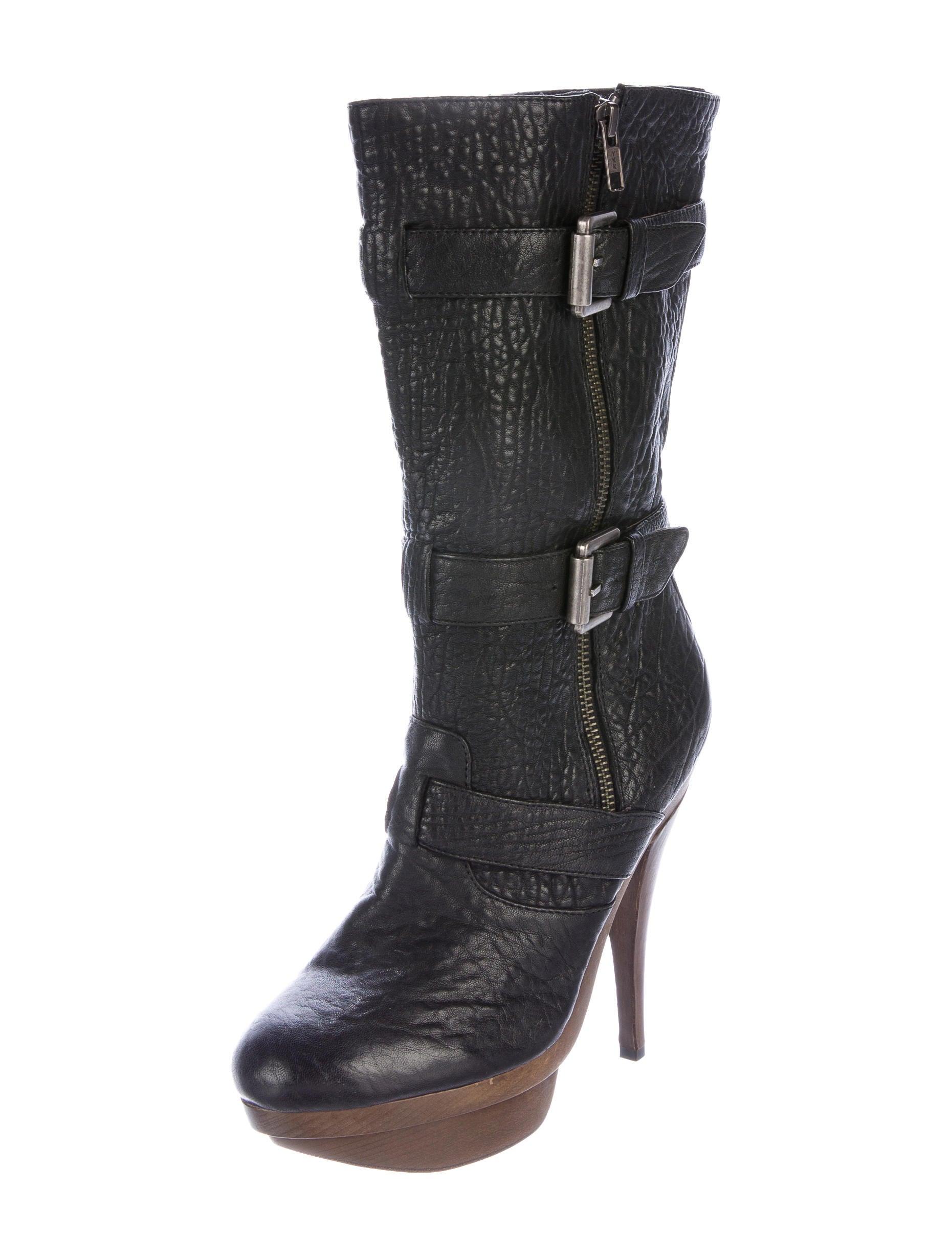 elizabeth and leather platform boots shoes