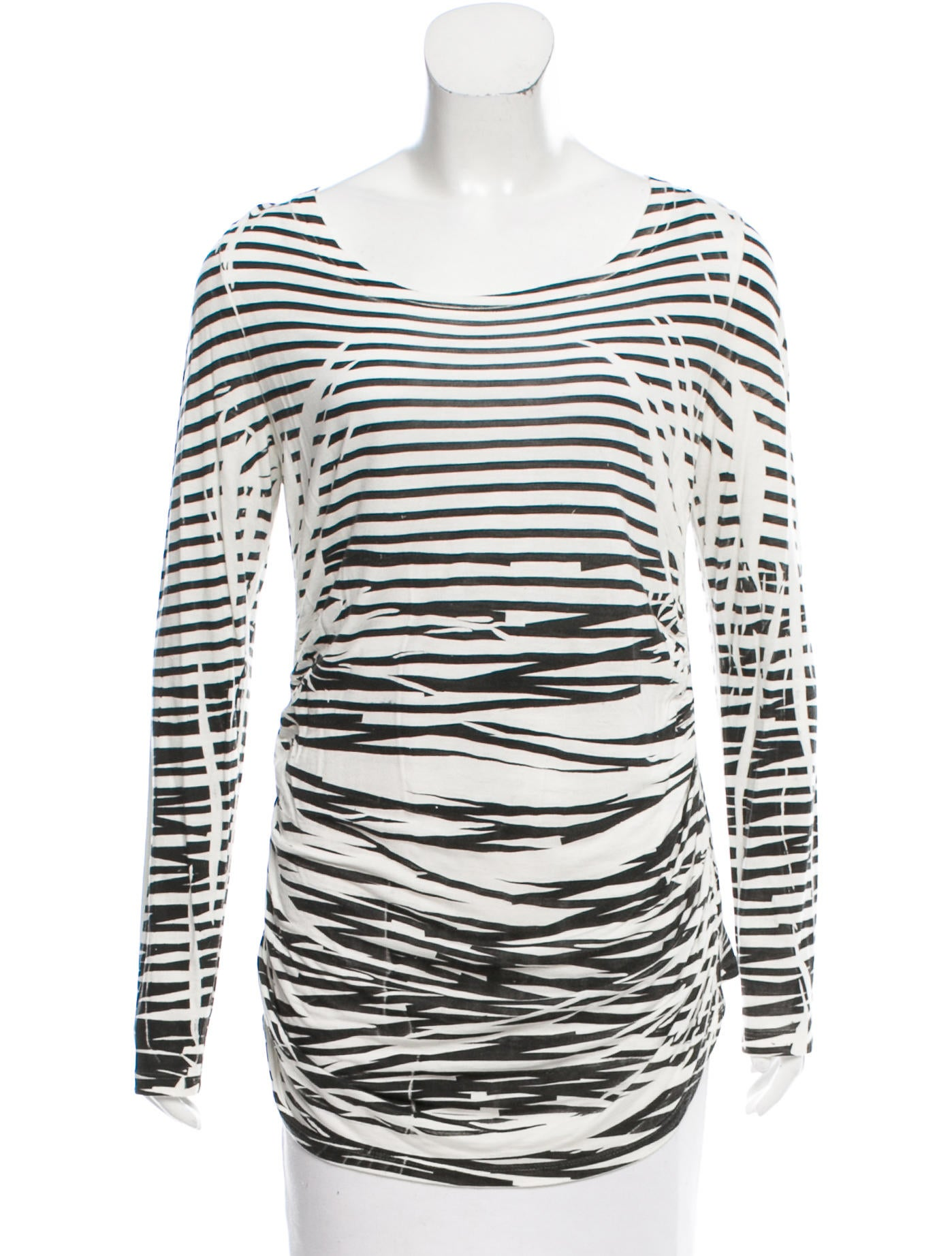 Elizabeth and james striped long sleeve t shirt clothing Striped long sleeve t shirt