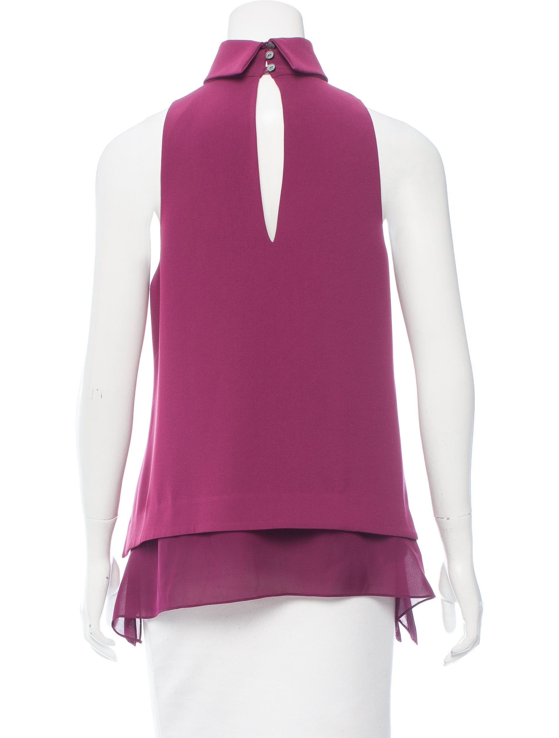 Elizabeth and james sleeveless mock neck top clothing for Sleeveless mock turtleneck shirts