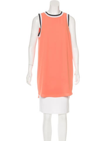 Elizabeth and James Sleeveless Striped Tunic None