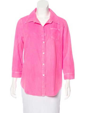 Elizabeth and James Long Sleeve Button-Up Top None
