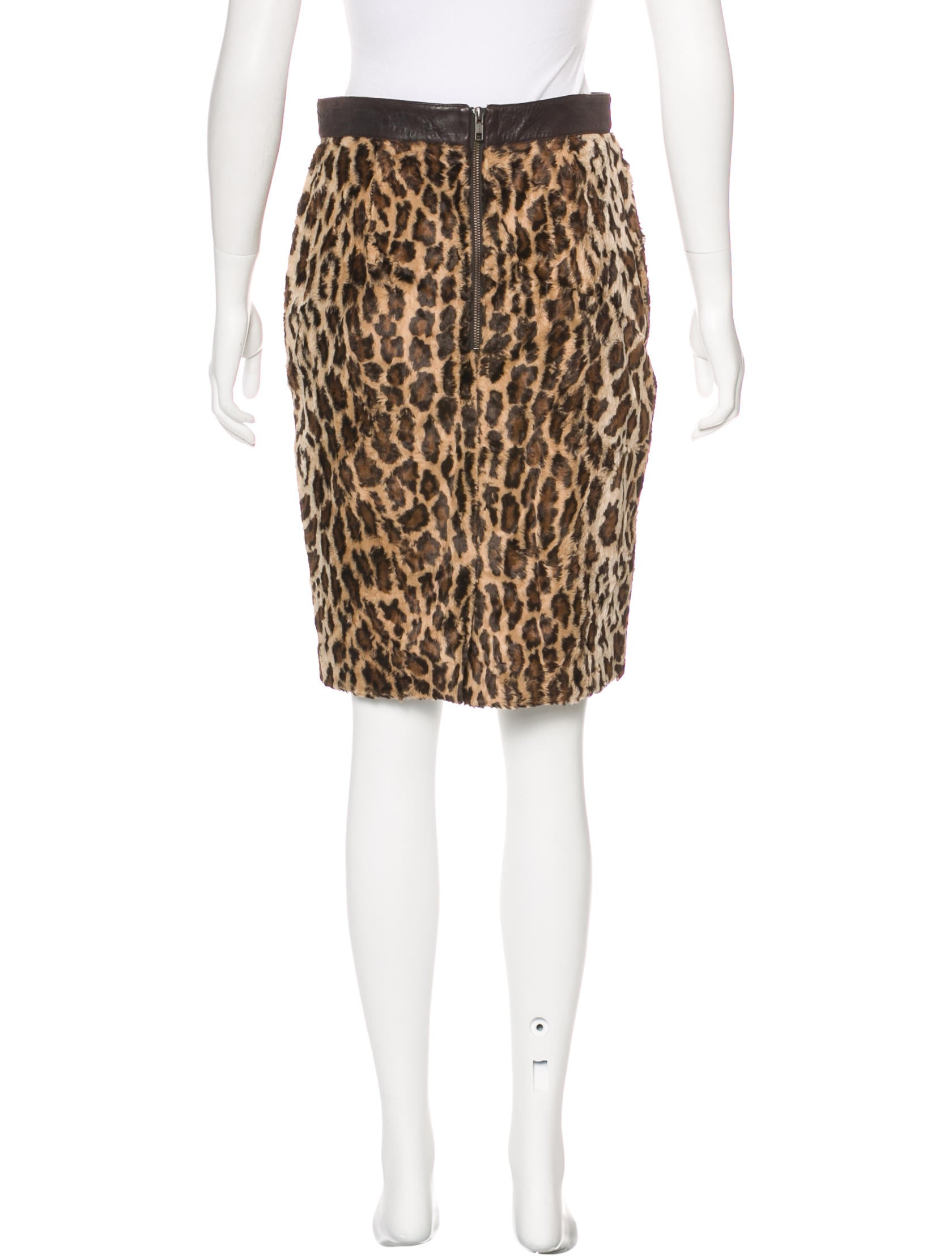 elizabeth and leopard print pencil skirt clothing