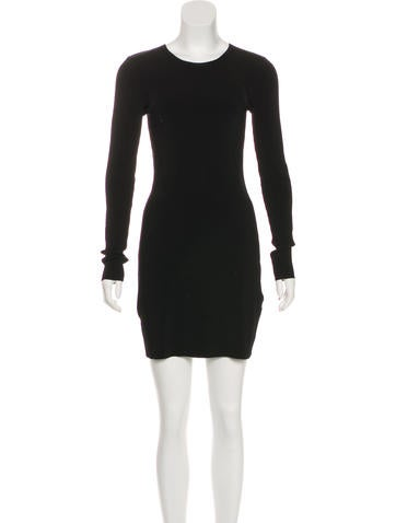 Elizabeth and James Long Sleeve Rib Knit Dress None