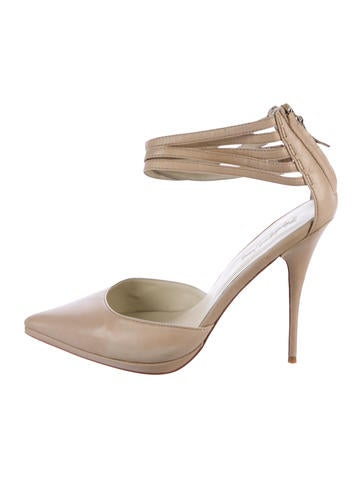 Elizabeth and James Pointed-Toe d'Orsay Pumps None