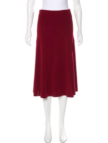 Elizabeth and James Rib Knit Midi Skirt None
